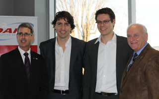 Justin Trudeau visits DART Helicopter Services