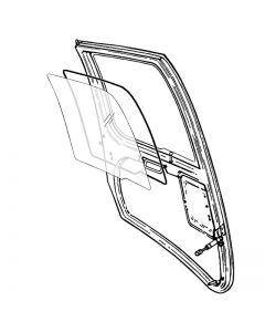 R44 Passenger Door Window - Fits LH or RH